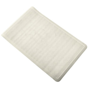 "Rubbermaid 1982724 Safti-grip alfombra de goma color blanca para baño  22.5""x 14"""