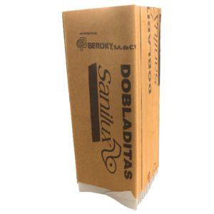 Berocky dobladitas Sanilux Toalla  interdoblada color blanca 22 x 24, caja con 20 paquetes de 100 piezas cada uno