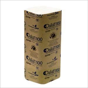 Fapsa TI100 toalla interdoblada hoja sencilla color blanca 23.5 x 21.5, caja caja con 20 paquetes de 100 toallas cada uno