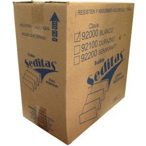 Kimberly Clark Seditas toalla interdoblada color blanco hoja plus 21.5 x 21, caja con 20 paquetes de 100 toallas cada uno