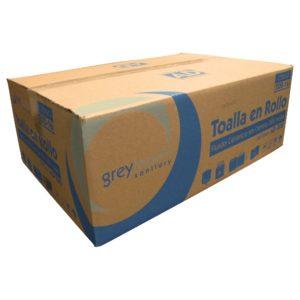 Greymoon 200-16 sistema AD-200 toalla en rollo color blanca hoja sencilla de fluido céntrico, caja con 6 rollos de 320 hjs cada uno