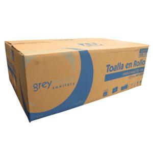 Greymoon 200-30 sistema AD-200 toalla en rollo color blanca hoja sencilla institucional, caja con 6 rollos de 304 mts cada uno