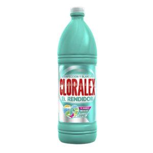 Caja con 8 envases de líquido blanqueador marca CLORALEX con 950 ml
