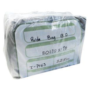 Paquete de bolsa Ruda bag  80+20 x 1.20 color  negra con 125 piezas