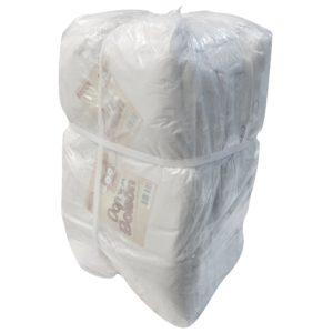 Paquete de bolsa grande color blanco con 25 kilos