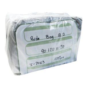 Paquete de bolsa Ruda bag  90 x 1.20 color  negra con 100 piezas