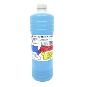 Litro de liquido limpiavidrios