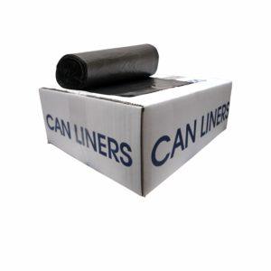 Caja de bolsa en rollo 24 x 24  color negro con 1000 piezas