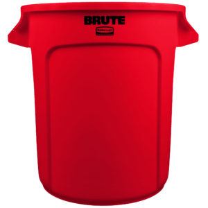 Rubbermaid FG261000RED contenedor Brute color rojo con capacidad para 10 galones