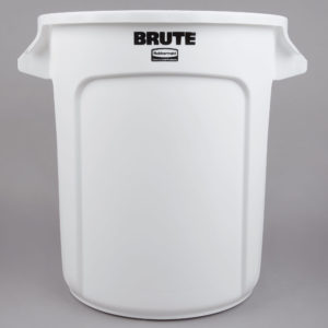 Rubbermaid FG261000WHT contenedor Brute color blanco con capacidad para 10 galones