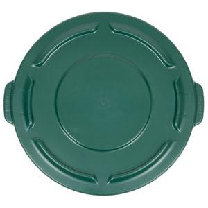 Rubbermaid FG261960DGRN tapa Brute autodrenable color verde, aplica contenedor brute de 20 galones