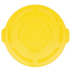 Rubbermaid FG261960YEL tapa Brute autodrenable color amarillo, aplica contenedor Brute de 20 galones