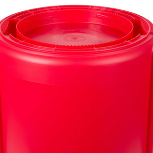 Rubbermaid FG262000RED contenedor Brute color rojo con capacidad para 20 galones
