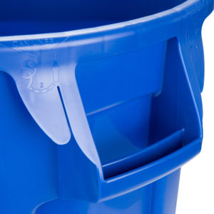 Rubbermaid FG262000BLUE contenedor Brute color azul con capacidad para 20 galones