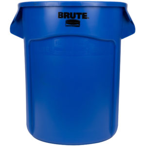 Rubbermaid FG262000BLUE contenedor Brute color azul con capacidad para 20 galones
