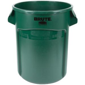 Rubbermaid FG262000DGRN contenedor Brute color verde con capacidad para 20 galones