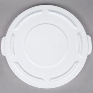 Rubbermaid FG263100WHT tapa Brute autodrenable color blanco, aplica contenedor Brute de 20 galones