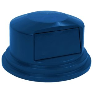 Rubbermaid 1829398 tapa domo abatible Brute color azul, aplica contenedor brute de 32 galones