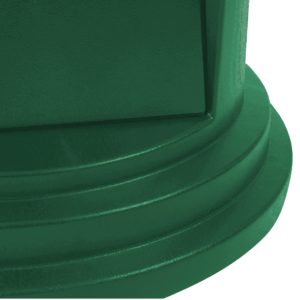 Rubbermaid 1829397 tapa domo abatible Brute color verde, aplica contenedor brute de 32 galones