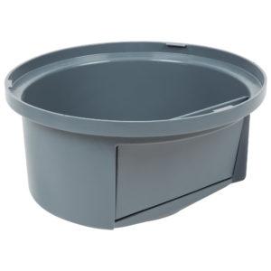 Rubbermaid FG263788GRAY tapa domo abatible Brute color gris, aplica contenedor brute de 32 galones