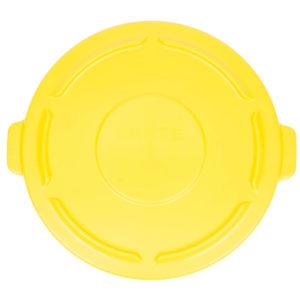 Rubbermaid FG264560YEL tapa Brute color amarillo autodrenable, aplica contenedor Brute de 44 galones