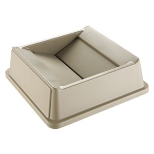 Rubbermaid FG266400BEIG tapa abatible Untouchable cuadrada color beige, aplican contenedores FG395873 y FG395973