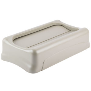 Rubbermaid FG267360BEIG  tapa Slim-jim abatible color beige, aplican contenedores Slim-jim
