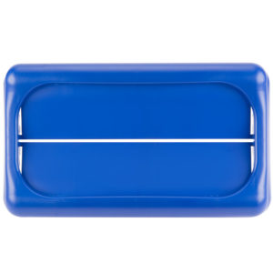 Rubbermaid FG267360BLUE  tapa Slim-jim abatible color azul, aplican contenedores Slim-Jim