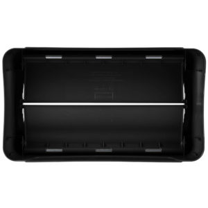 Rubbermaid FG267360BLA  tapa Slim-jim abatible color negro, aplican contenedores Slim-Jim