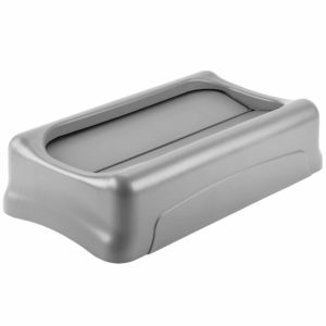 Rubbermaid FG267360GRAY tapa Slim-jim abatible color gris, aplican contenedores Slim-jim