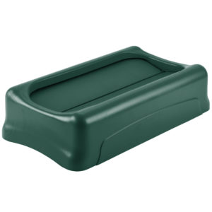 Rubbermaid 1829400 tapa Slim-jim abatible color verde, aplican contenedores Slim-Jim