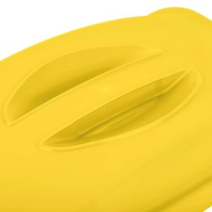 Rubbermaid FG268888YEL  tapa Slim-jim color amarillo con agarradera, aplican contenedores Slim-jim