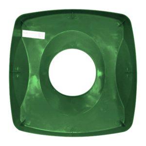Rubbermaid FG269100GRN tapa untouchable color verde para reciclaje de papel, aplican contenedores FG356907 y FG356988