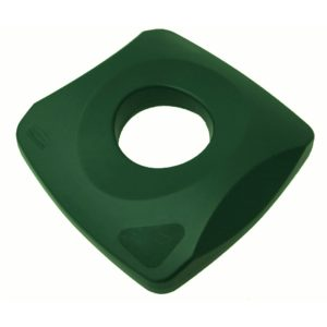 Rubbermaid FG269100GRN tapa Untouchable verde para reciclaje de botellas, aplica para contenedores  FG356900 y FG356988