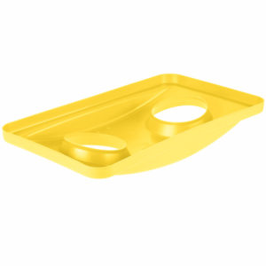 Rubbermaid FG269288YEL tapa Slim-jim color amarillo para reciclaje de botellas, aplican contenedores Slim-jim