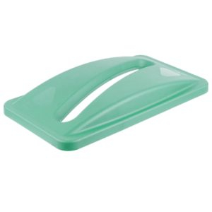 Rubbermaid FG270388GRN  Slim-Jim tapa color verde para reciclaje de papel para contenedores Slim-Jim