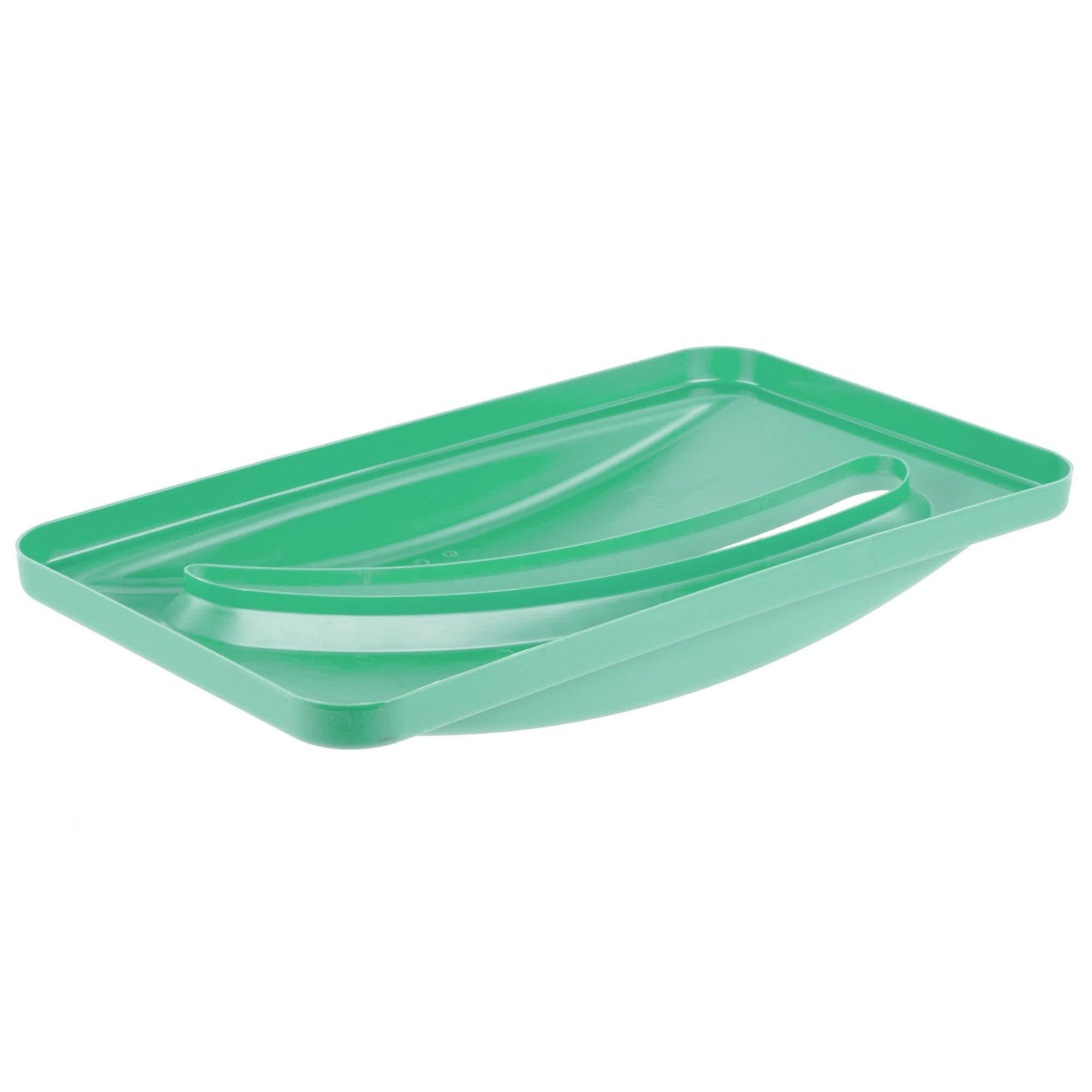 Rubbermaid FG270388GRN  Slim-Jim tapa color verde para reciclaje de papel para contenedores Slim-Jim 3