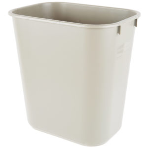 Rubbermaid FG295500BEIG cesto mediano  con capacidad para 3.25 galones, color beige