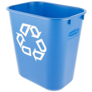 Rubbermaid FG295573BLUE cesto para reciclaje mediano con capacidad para 3.5 galones, color azul