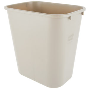 Rubbermaid FG295600BEIG  cesto mediano  con capacidad para 7 galones, color beige