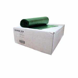 Caja de bolsa en rollo  30 x 43 de color verde con 250 piezas