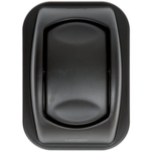 Rubbermaid FG306600BLA   tapa untouchable soft abatible color negro, aplica contenedor FG295600 de 7 galones