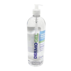 Gel antibacterial marca DERMOGEL de 1L con sifón
