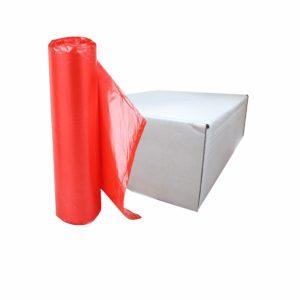 Caja de bolsa en rollo 33 x 40 de color rojo con 250 piezas