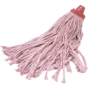 Cabeza repuesto de pabilo color rojo para trapeador, no incluye bastón
