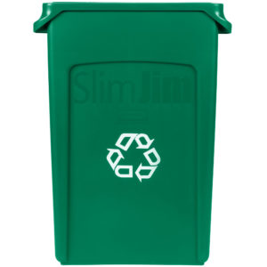 Rubbermaid FG354007GRN contenedor Slim-jim de reciclaje con capacidad para 23 galones, color verde