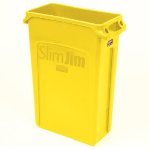 Rubbermaid 1956188 contenedor Slim-jim con capacidad para 23 galones, color amarillo