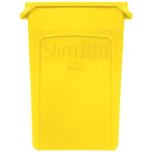 Rubbermaid 1956188 contenedor Slim-jim con capacidad para 23 galones, color amarillo
