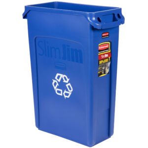 Rubbermaid FG354007BLUE contenedor  para reciclaje Slim-jim con capacidad para 23 galones, color azul