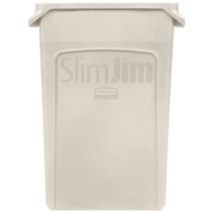 Rubbermaid FG354060BEIG contenedor Slim-jim con capacidad para 23 galones, color beige